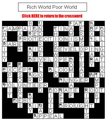 Crossword on Rich & Poor World